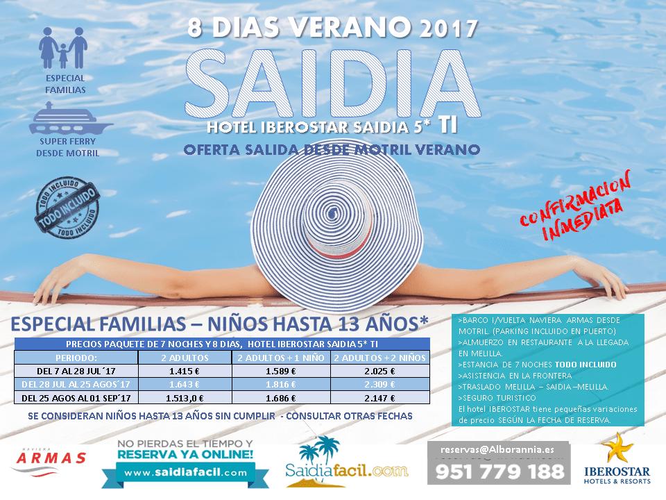 Escapate Al Iberostar Saidia 5 Ti 8 Días Desde Motril Saidiafácil
