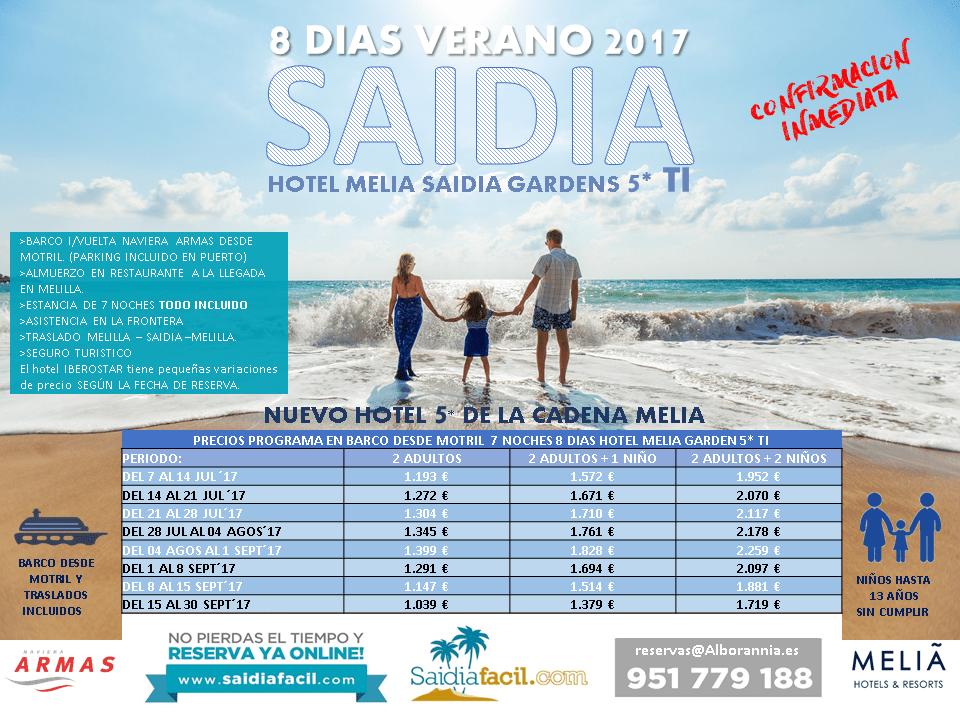 Vacaciones Solucionadas 597 8 Días Melia Saidia 5 Saidiafácil