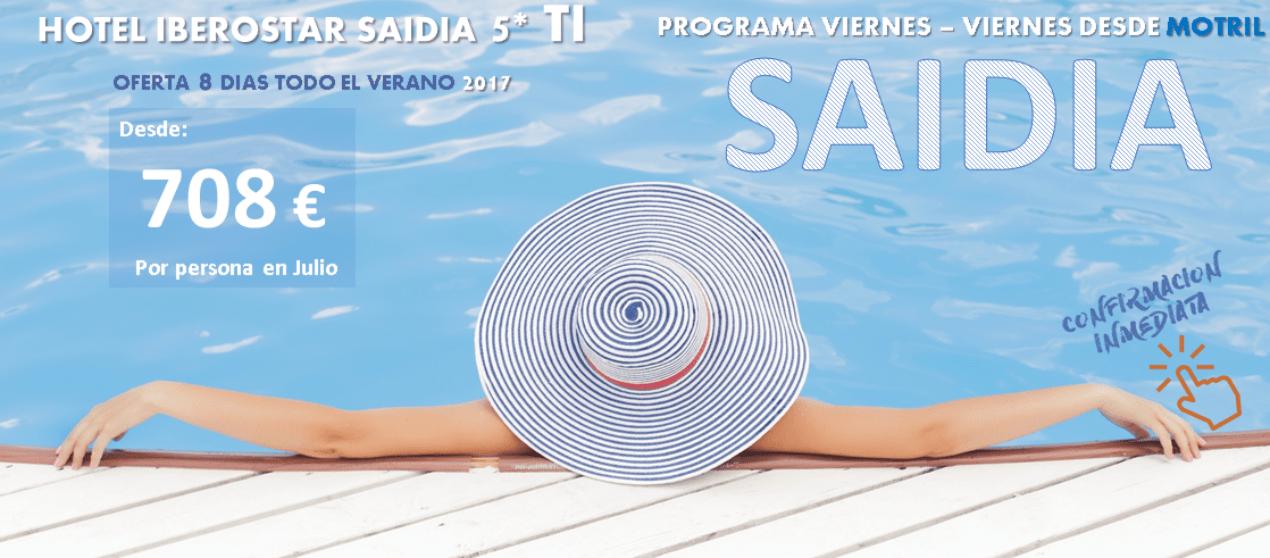 Escapate al Iberostar SAIDIA 5* TI, 8 días desde Motril