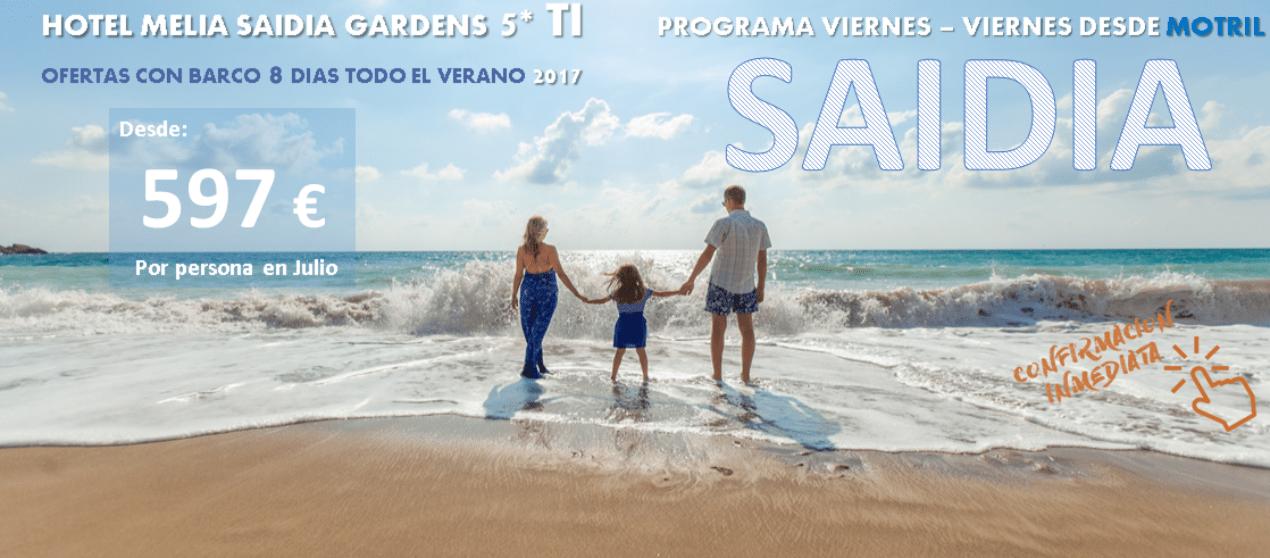 Vacaciones solucionadas: 597 € – 8 días – MELIA SAIDIA 5*