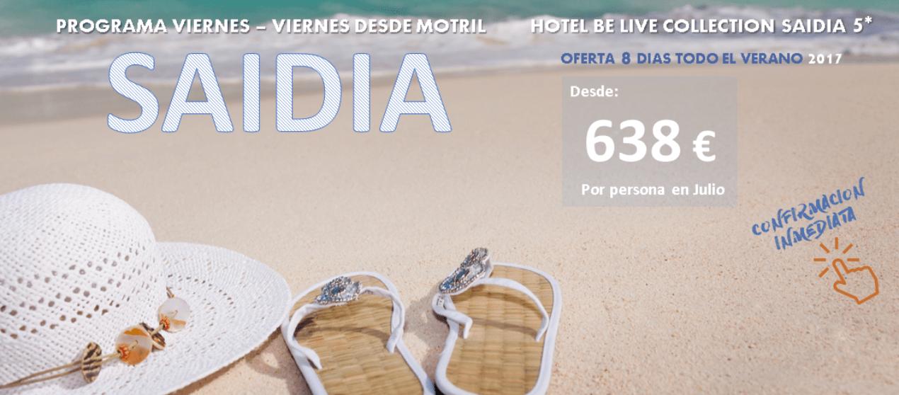 Tus vacaciones en Be live Saidia 5* TI – Programa 8 días