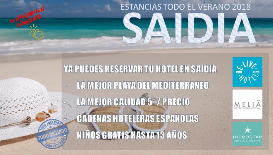 Reserva tu estancia en Saidia – Verano 2018