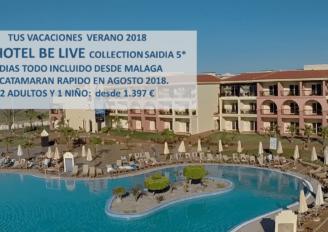 Las vacaciones 5* de tu familia en Belive Saidia verano´18