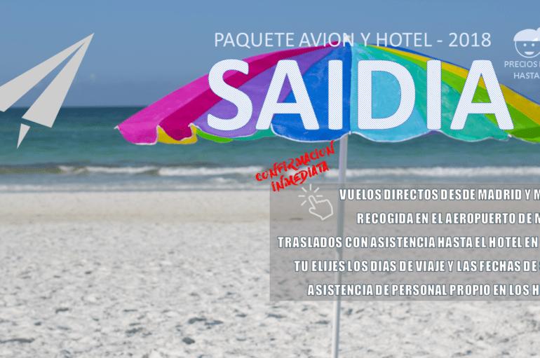 Vacaciones en Saidia en AVIÓN – verano 2018